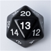 D20 Countdown Die 55mm: Black