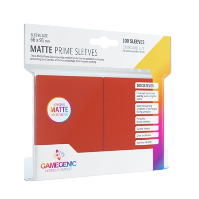 Gamegenic: Matte Prime Sleeves Red (100)