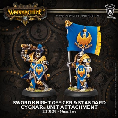 Cygnar: Sword Knight Officer & Standard
