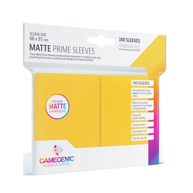 Gamegenic: Matte Prime Sleeves Yellow (100)